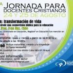 Segunda jornada para docentes Cristianos