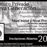 Inscripciones abiertas, Instituto Nueva Generacion.