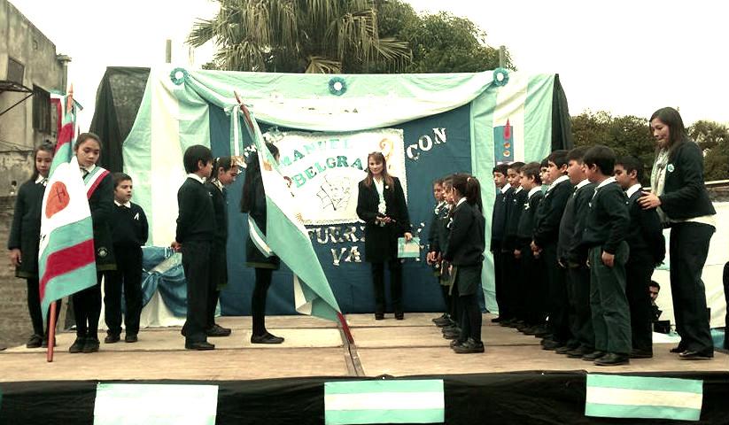 acto de la bandera